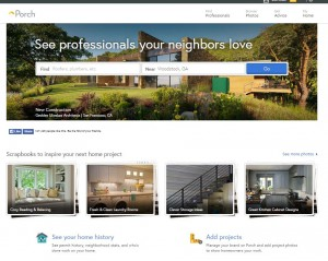 Porch landing page