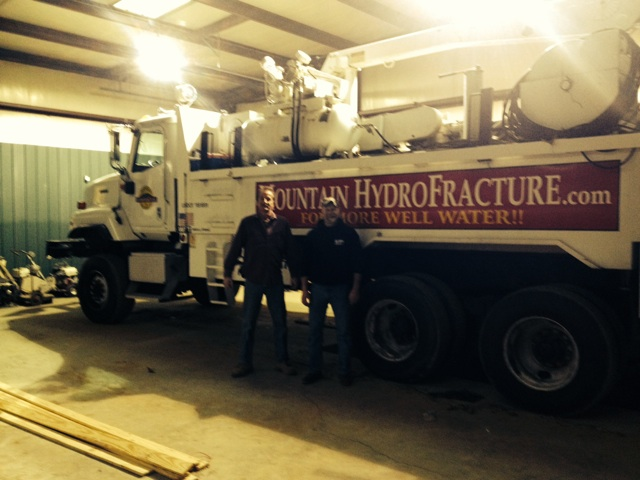 Jeff Holloway and Russel Ware with their Frack Rig